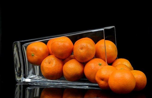 mandarinky ve skle
